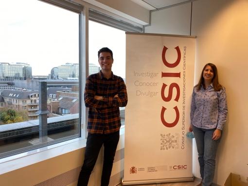 Estudiantes de Erasmus+ en la Delegación del CSIC en Bruselas